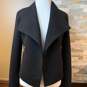 NWT CALVIN KLEIN Ribbed Knit Open Front Jacket